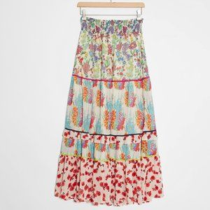 Anthropologie Lorraine Tiered Maxi Skirt